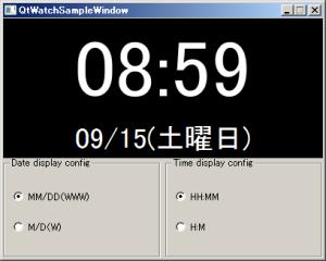 QtSampleWatch